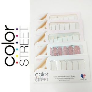 🆕Color Street Nail Strips Bundle Of 5 French Mani